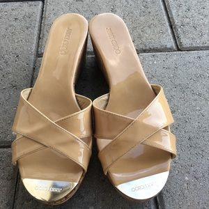 Jimmy Choo Panna Cork Wedge Sandals
